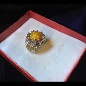 Jewelry - Amber Color Natural Opal Ring